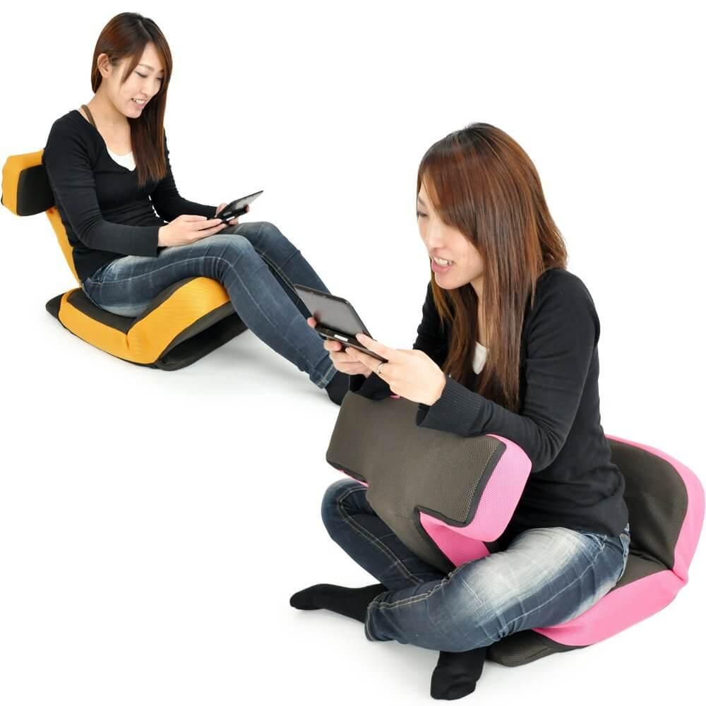座面や背中の角度を自由自在に変えることができる、最高の環境でゲームができる座椅子