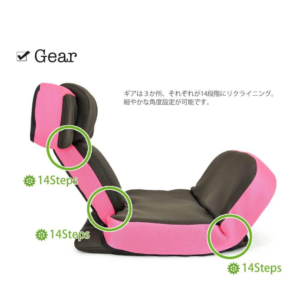 14段階のリクライニング機能で最高のゲーム環境を提供する座椅子