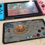 Honor Note 10と任天堂switchを並べてみたらこんなに違う!薄い!小さい!画面が綺麗!