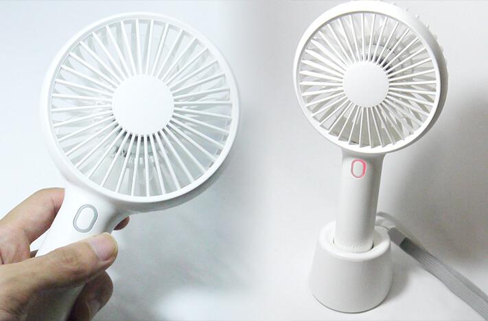 Spigenのモバイル扇風機は『風力5段階調整』『スタンド式と手持ち2WAY仕様』さらに『長時間駆動』!
