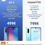 XiaomiがMi 9とHuawei P30のコスパ比較で敵対広告!圧倒的すぎる強さに唖然