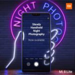 Xiaomi Mi 8 Liteがアップデート。夜景撮影モードに対応