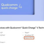 Xiaomi Mi 8 |  Quick Charge 4.0をサポート!Qualcommが誤ってリーク!