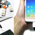 inChargeは軽くてオシャレなどこでも充電ケーブル!モバイルバッテリーとスマホを片手で持ちながら充電可能!