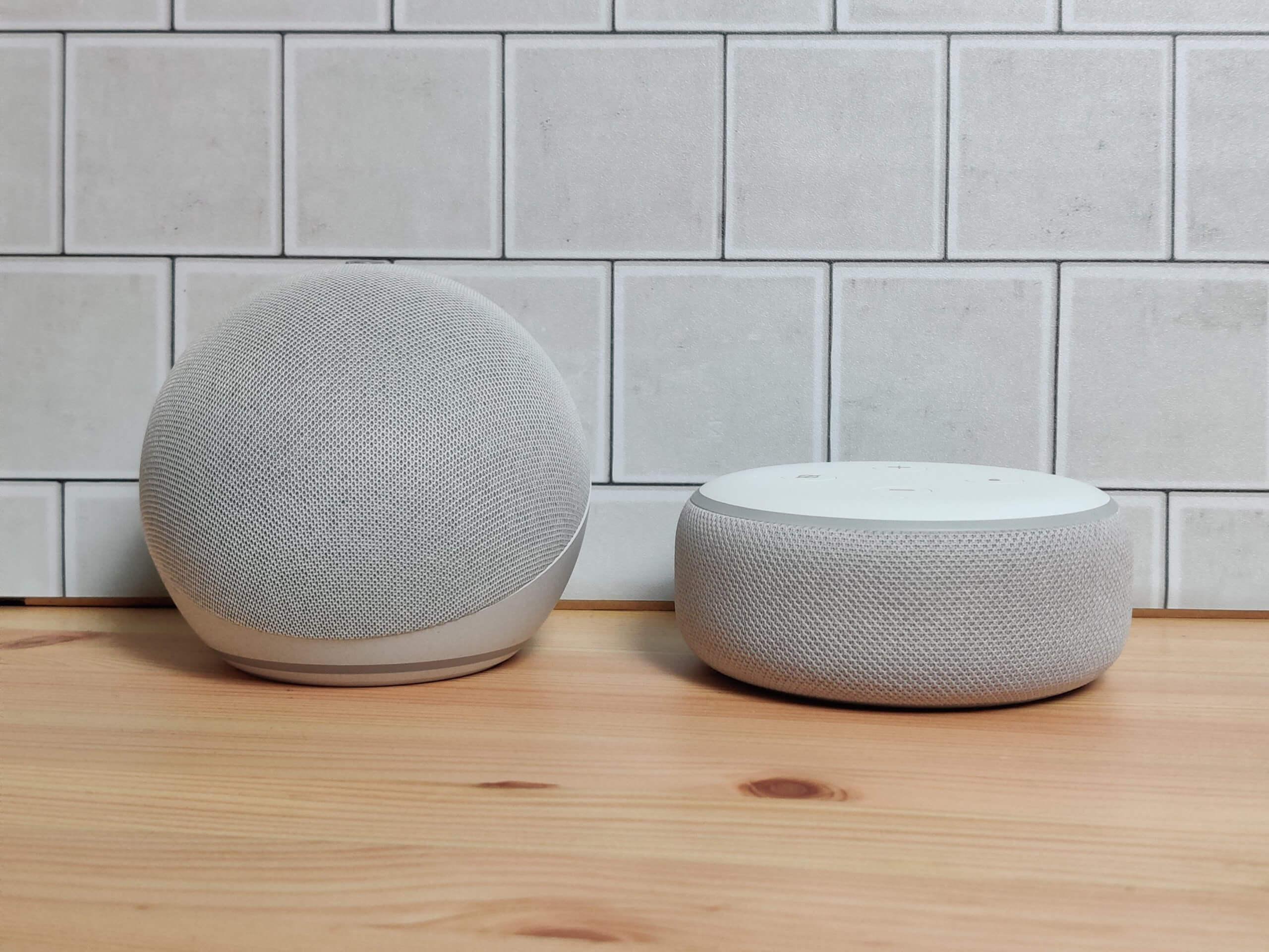 Echo Dot(第4世代)とEcho Dot(第3世代)