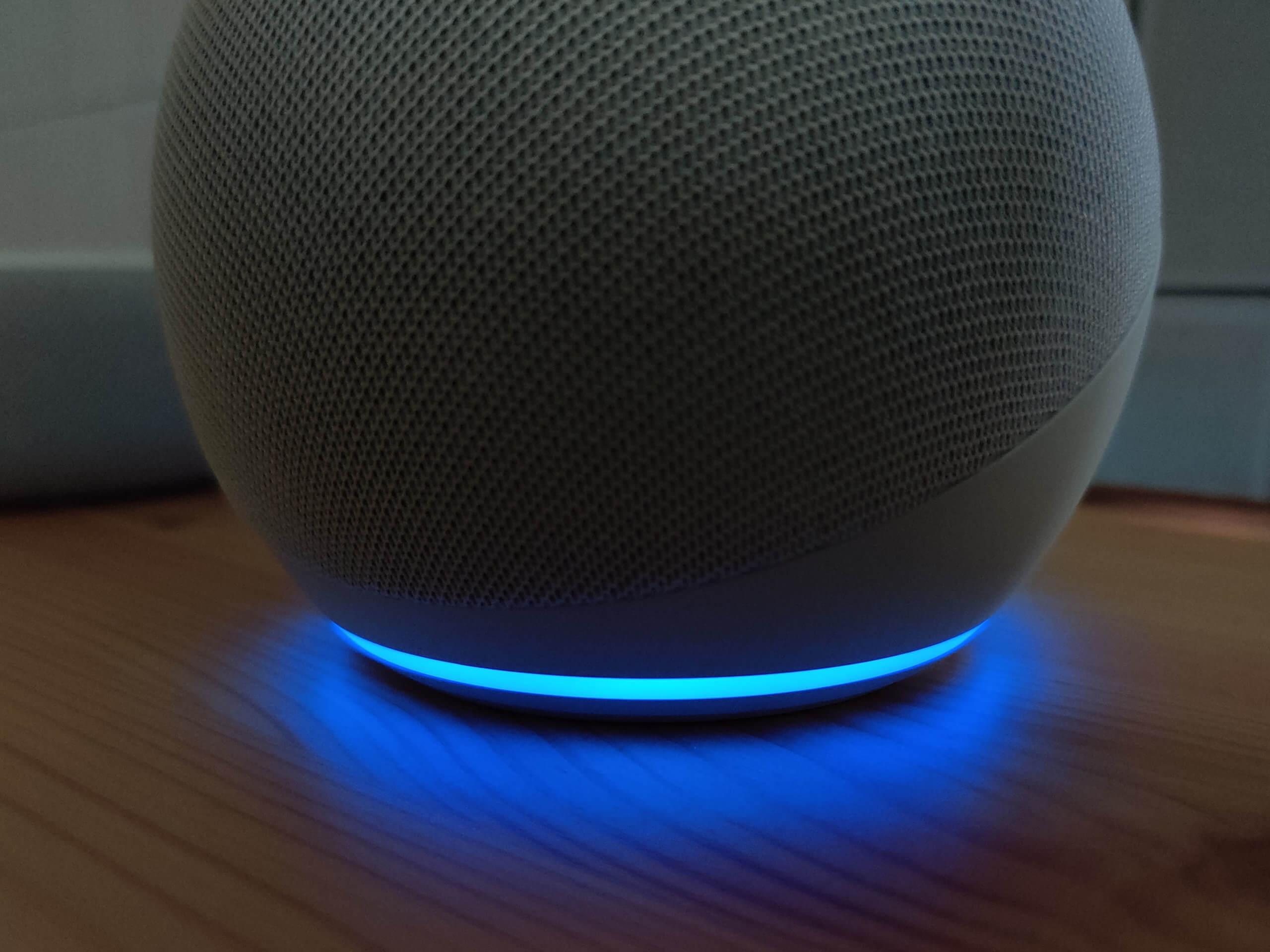 Echo Dot(第4世代)のLEDランプ