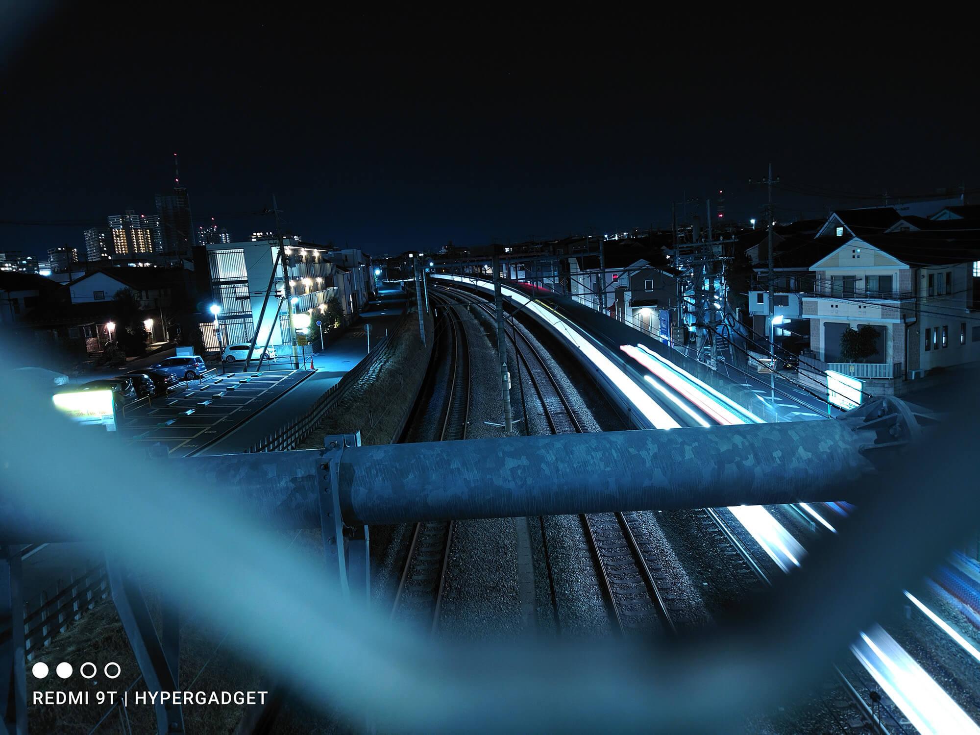 Redmi 9Tのプロモードを使って撮影した夜景画像