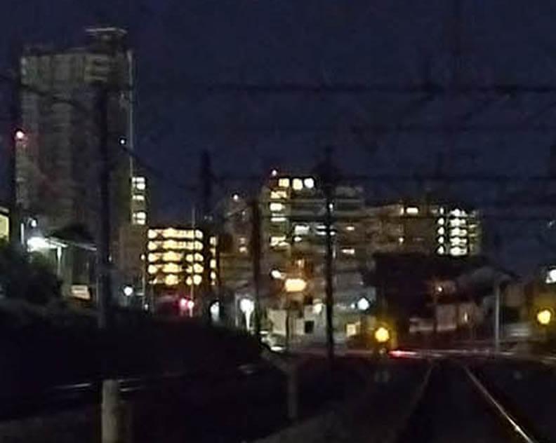 Xiaomi Redmi 9Tのデフォルトカメラアプリで撮影(夜景モード)した画像を拡大