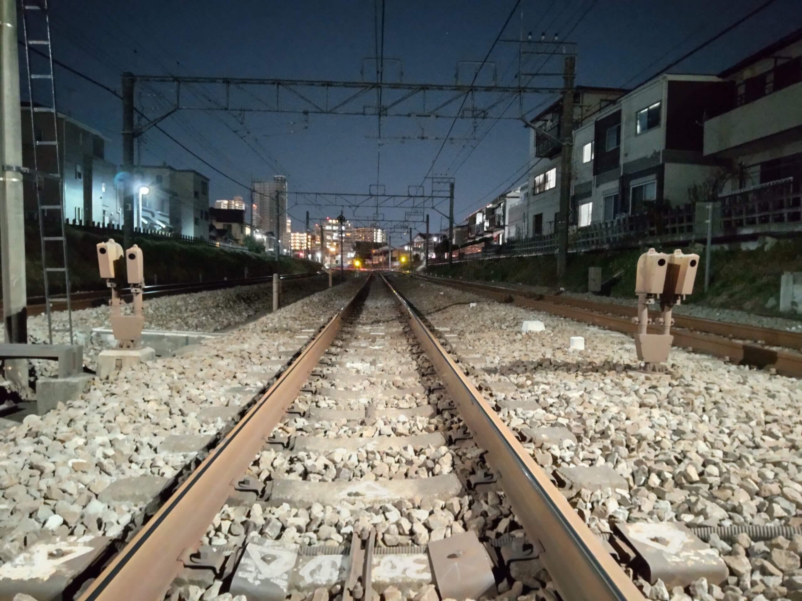 AQUOS sense4で撮影した夜景画像