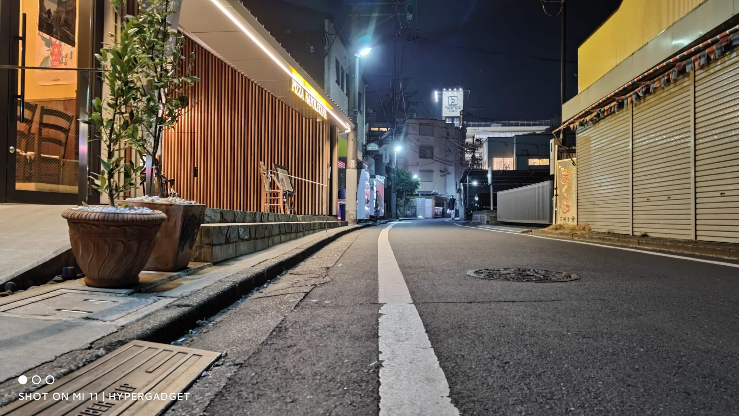 Xiaomi Mi 11で撮影した夜の町並み