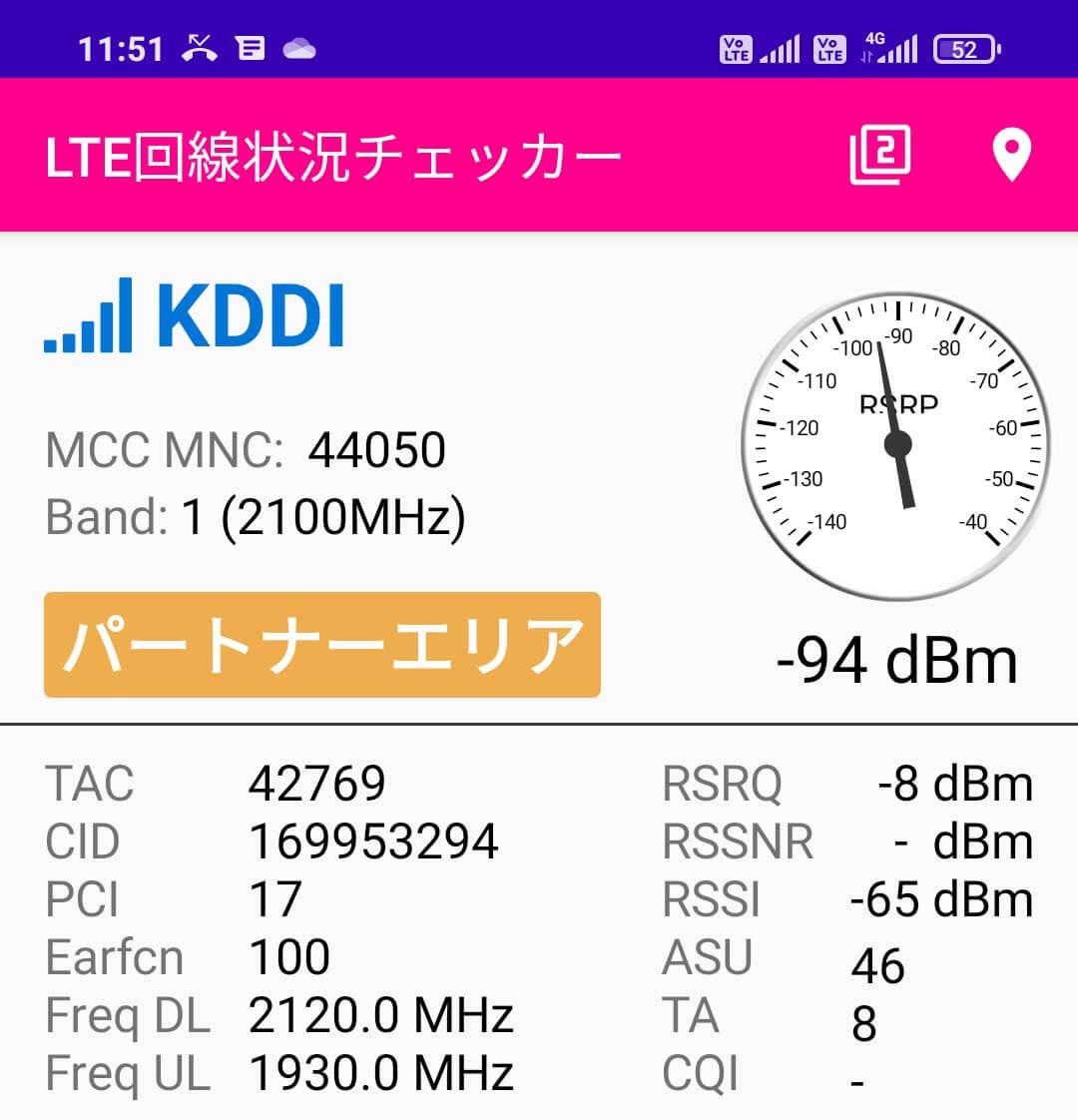Redmi 9TではUQモバイルのバンド1が利用可能