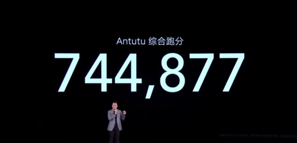 Redmi K40 ProシリーズのAntutuベンチマークスコアは744,877