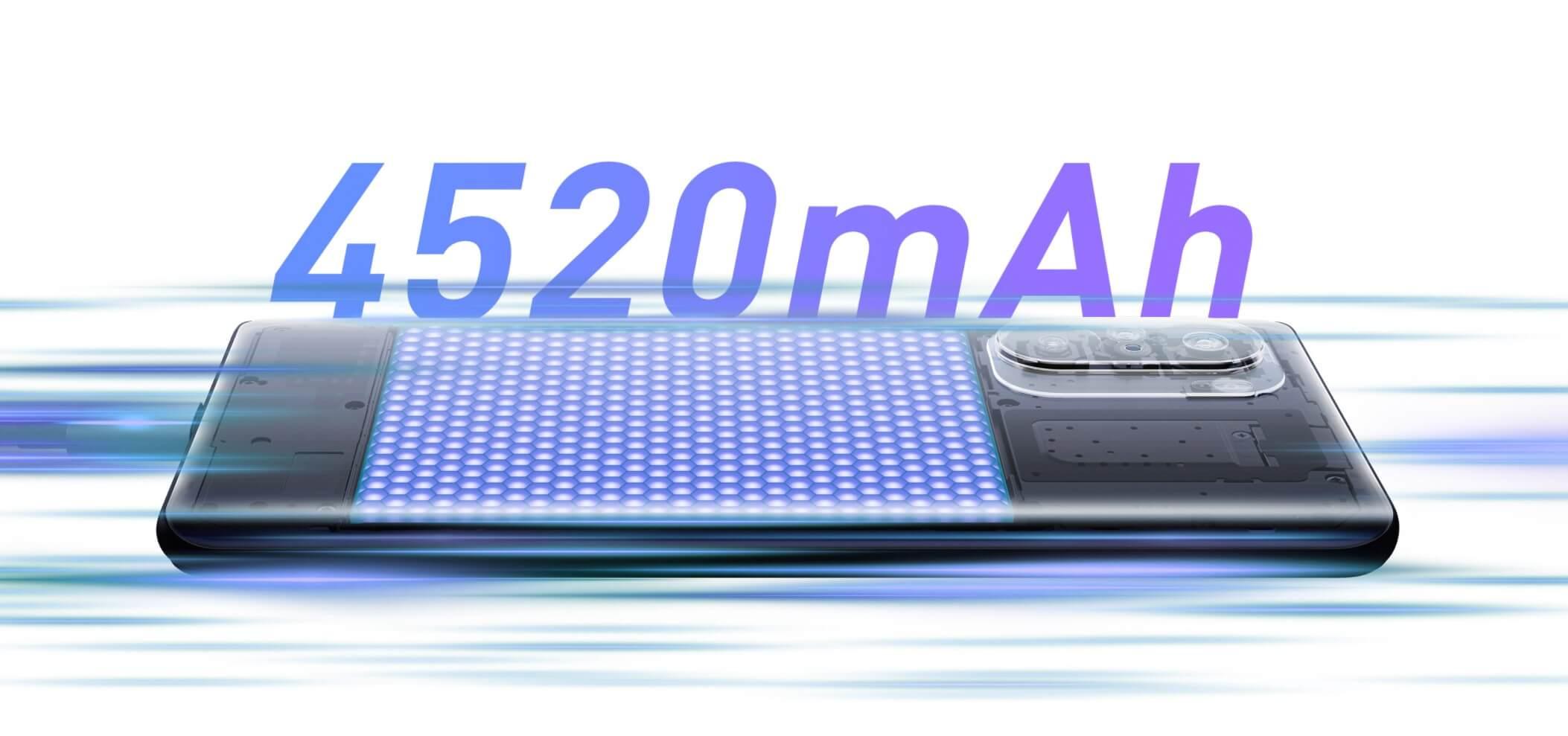 Redmi K40の電池容量は4520mAh