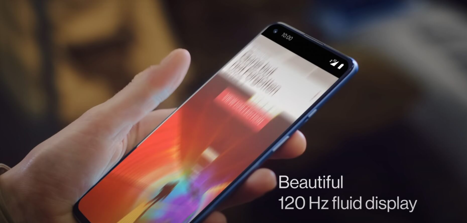 OnePlus 9R 5Gのディスプレイは120Hzのリフレッシュレートに対応