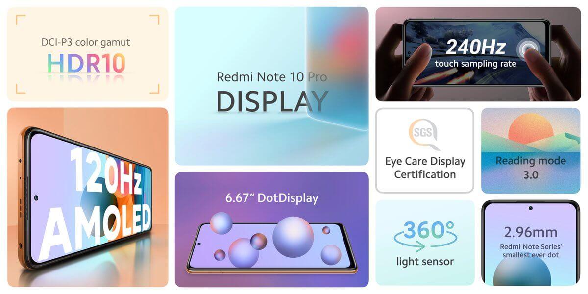 Redmi Note 10 Proのディスプレイは120Hzのリフレッシュレートに対応する有機EL