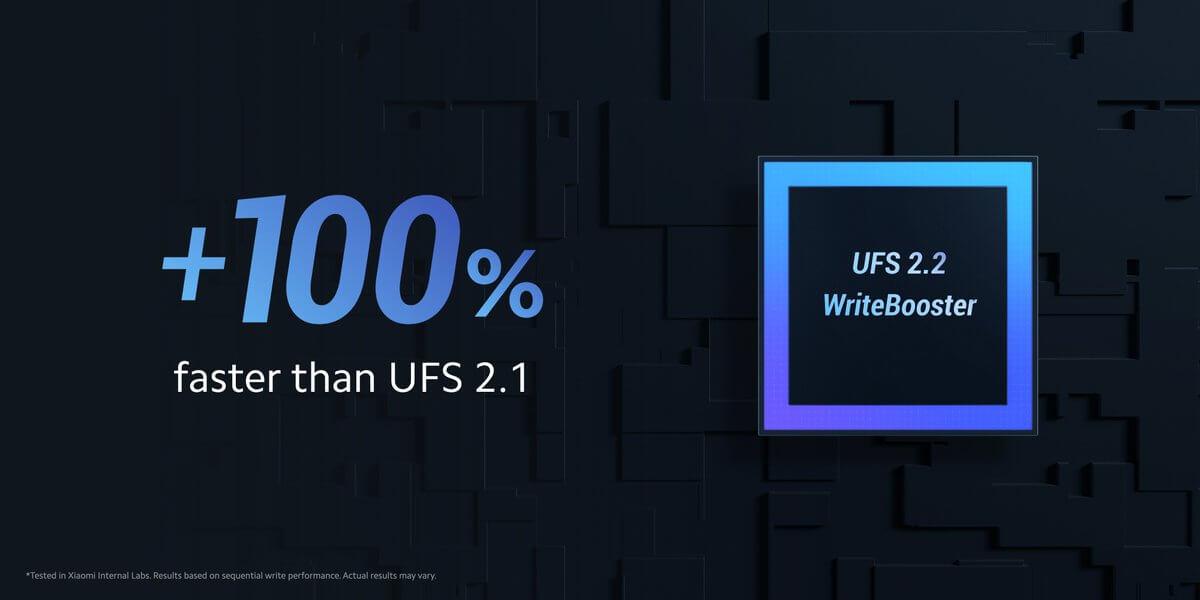 Redmi Note 10 Proの128GBモデル以上はUFS2.2を採用。処理職度は前モデルの2倍