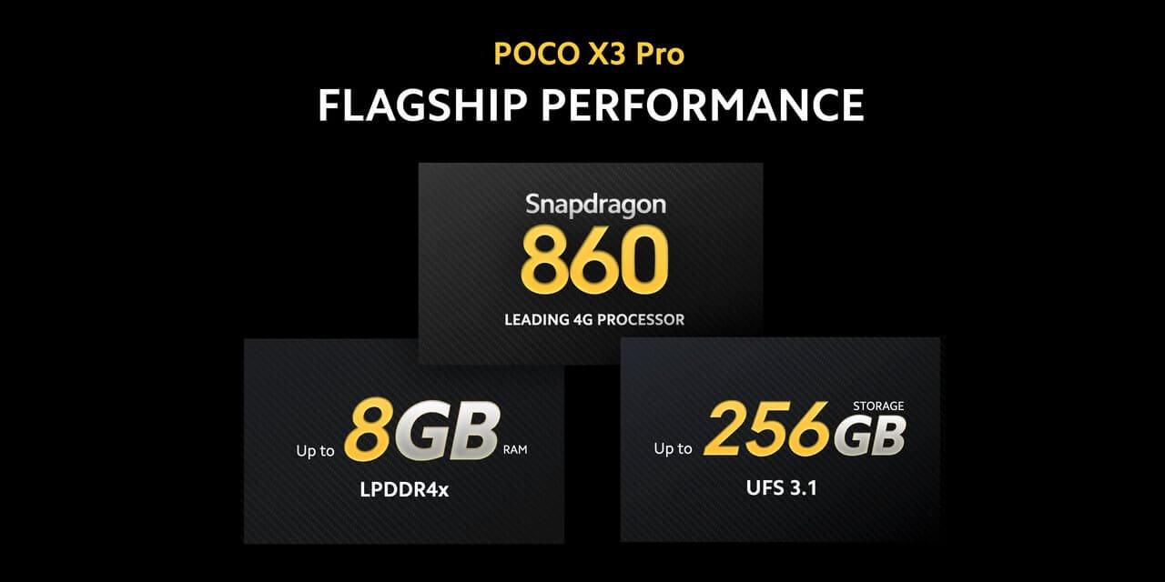 Xiaomi POCO X3 ProのストレージはUFS3.1