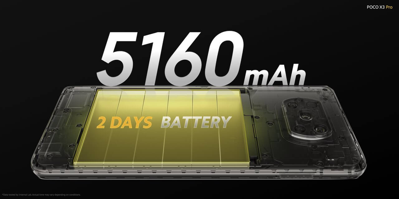 Xiaomi POCO X3 Proの電池容量は5160mAh
