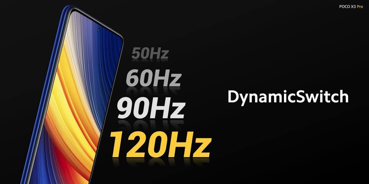 Xiaomi POCO X3 Proのリフレッシュレートは120Hz