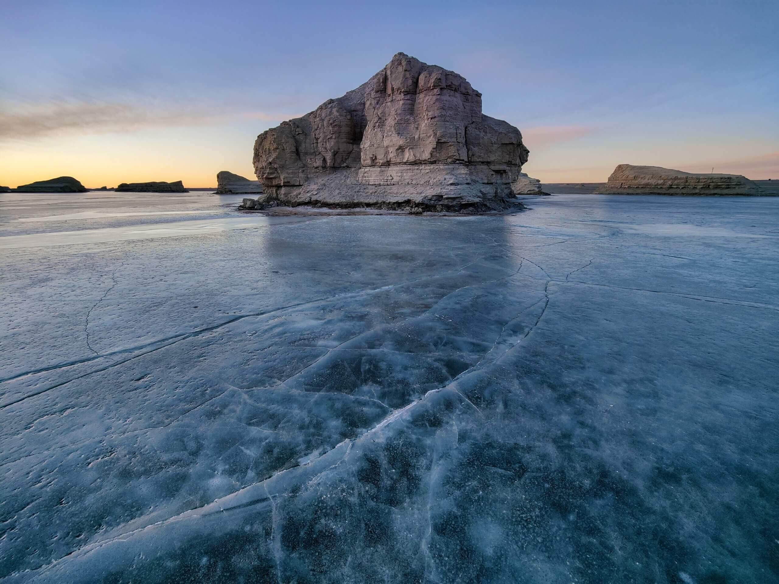 OnePlus 9シリーズ氷の景色