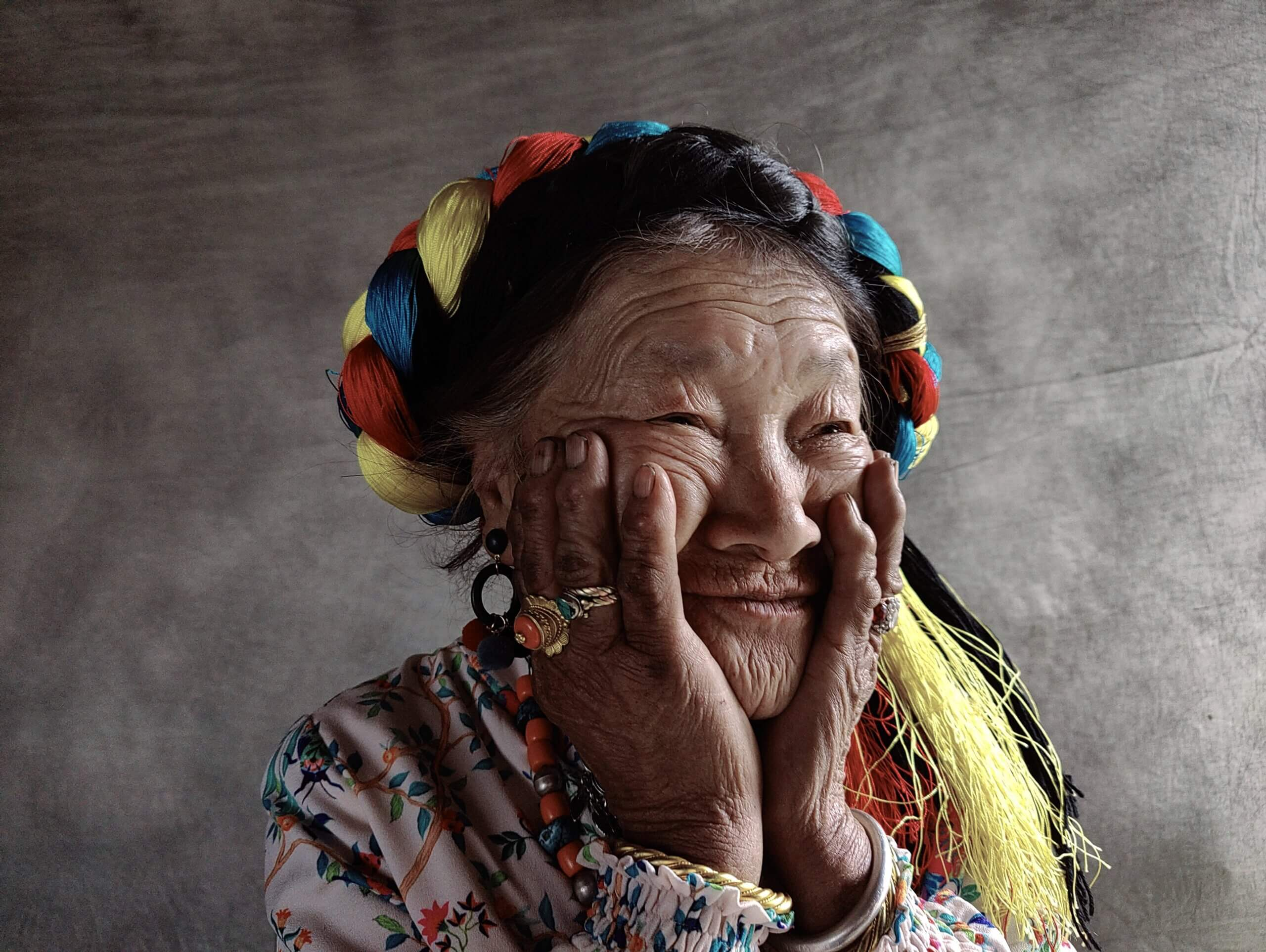 OnePlus 9シリーズ撮影した女性の画像