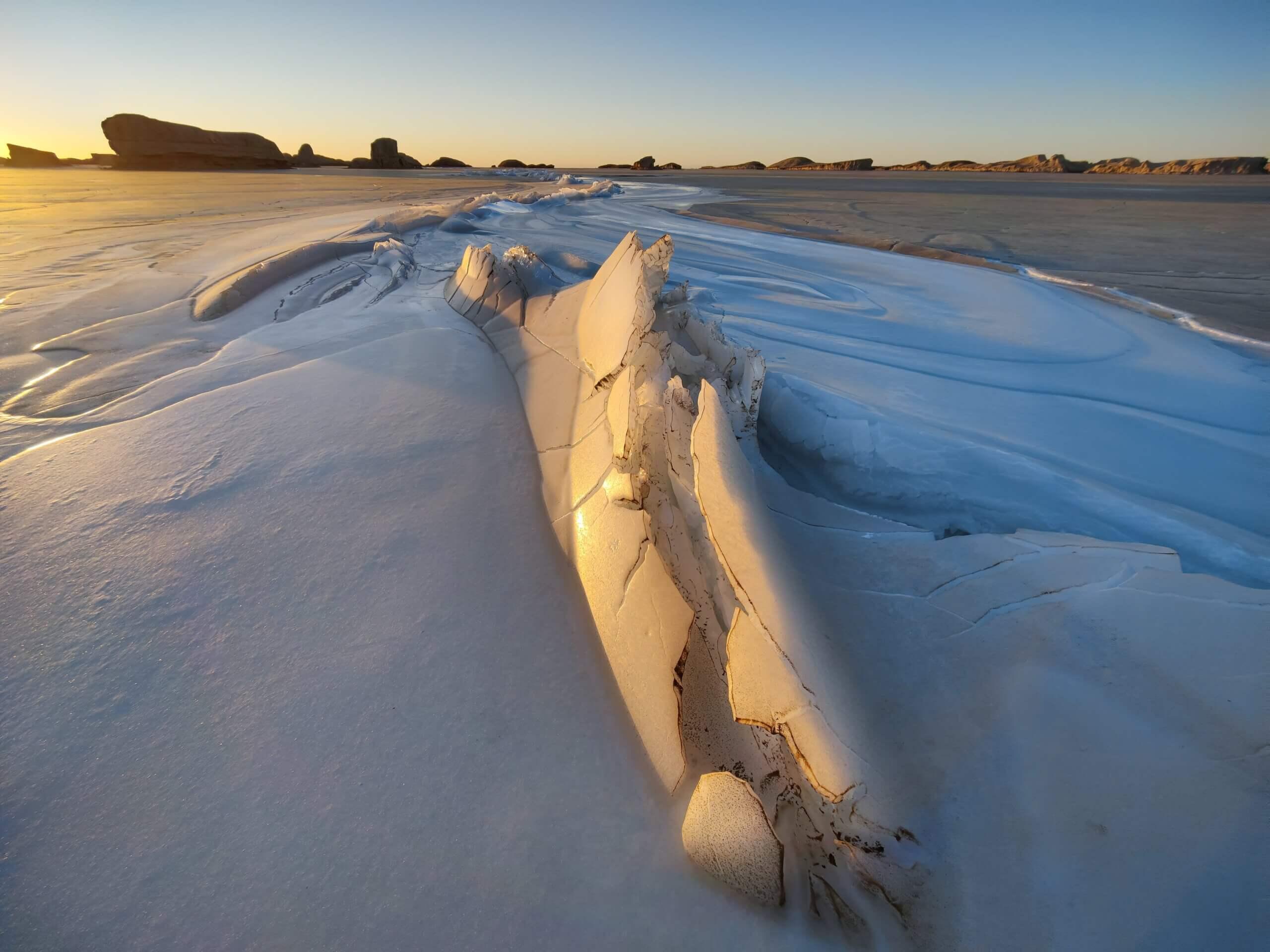 OnePlus 9シリーズで撮影した氷の景色