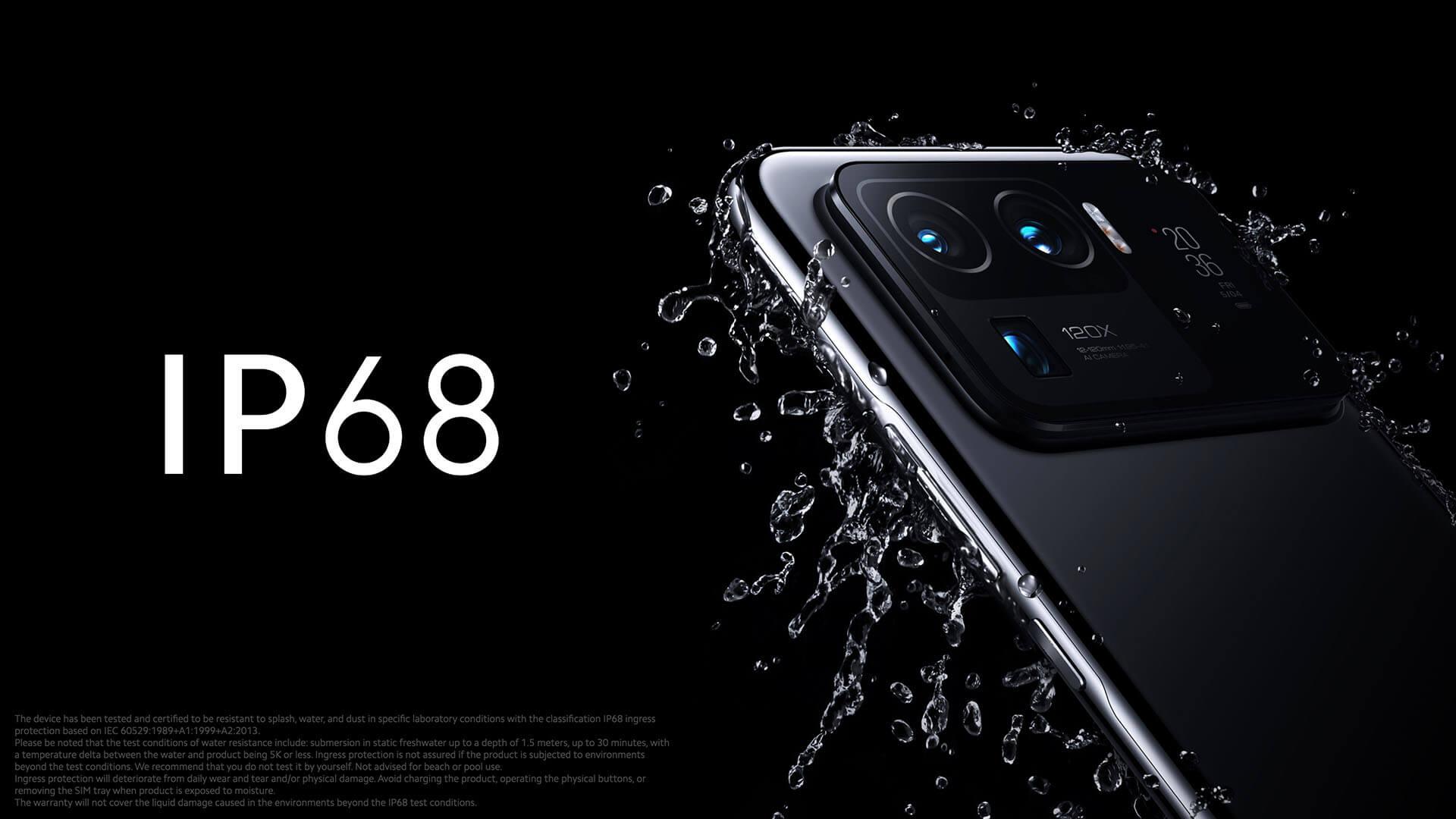 Xiaomi Mi 11 Ultraは最高レベルの防塵防水規格IP68に準拠
