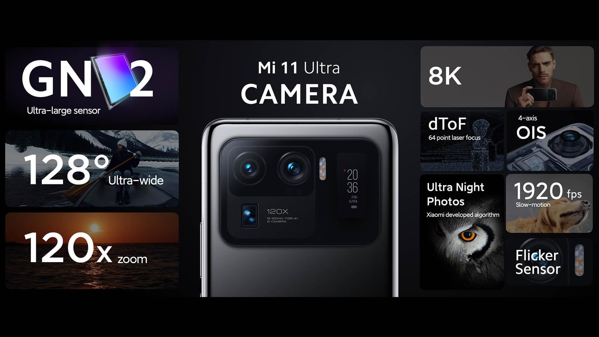 Xiaomi Mi 11 Ultraのカメラに関する情報