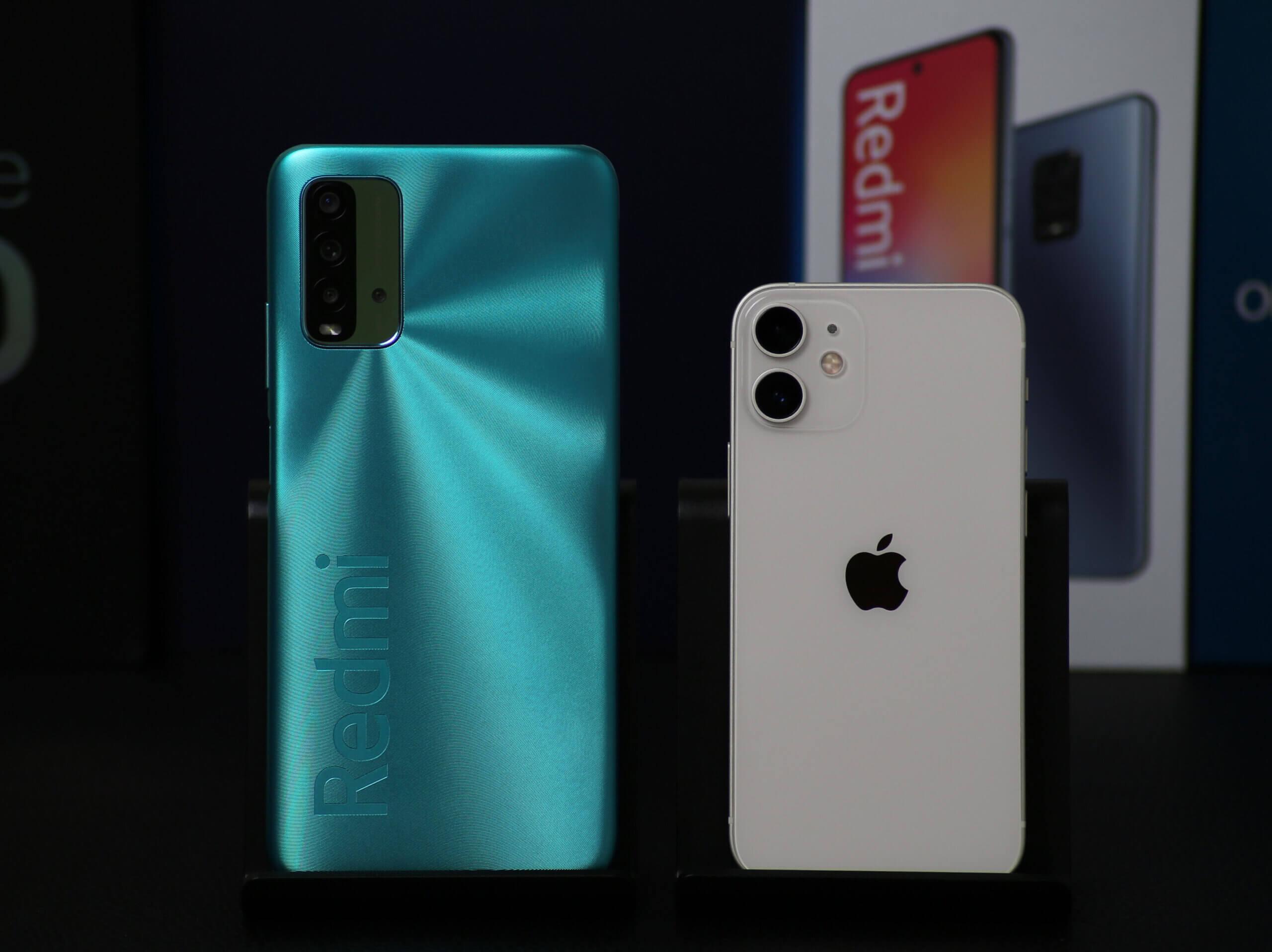 1万円台のRedmi 9Tと8万円台のiPhone 12 miniのカメラ画質比較