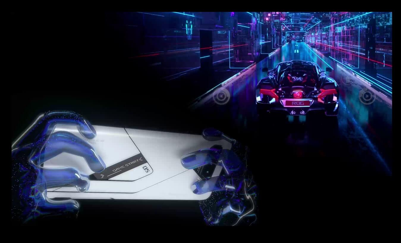 ROG Phone 5 ProとROG Phone 5 Ultimateは背面をコントローラーの一部として利用可能