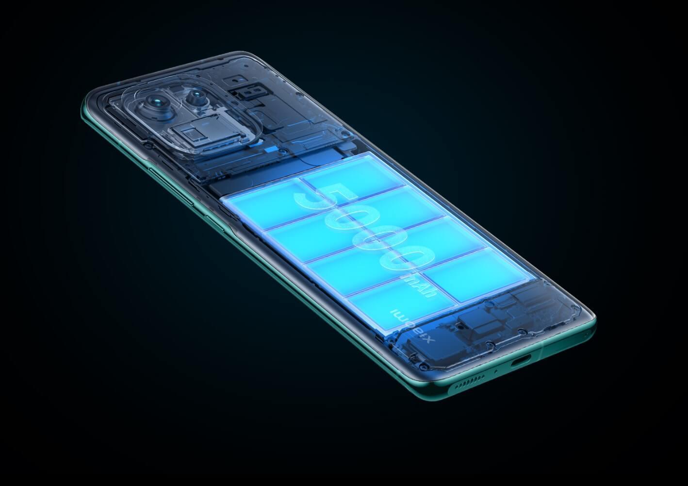 Xiaomi Mi 11 Proの電池容量は5000mAh