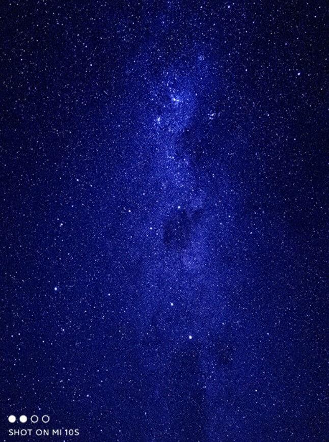Xiaomi Mi 10Sで撮影した星空