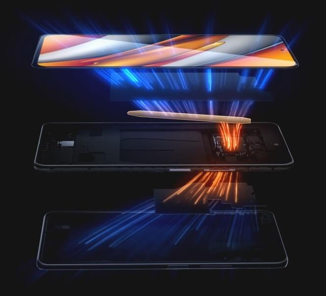 Xiaomi POCO F3は高いパフォーマンスを維持する本格的な冷却機能を搭載