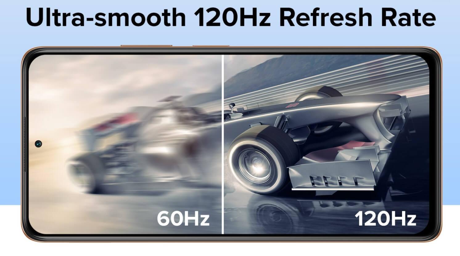 Redmi Note 10 Proのディスプレイリフレッシュレートは120Hz