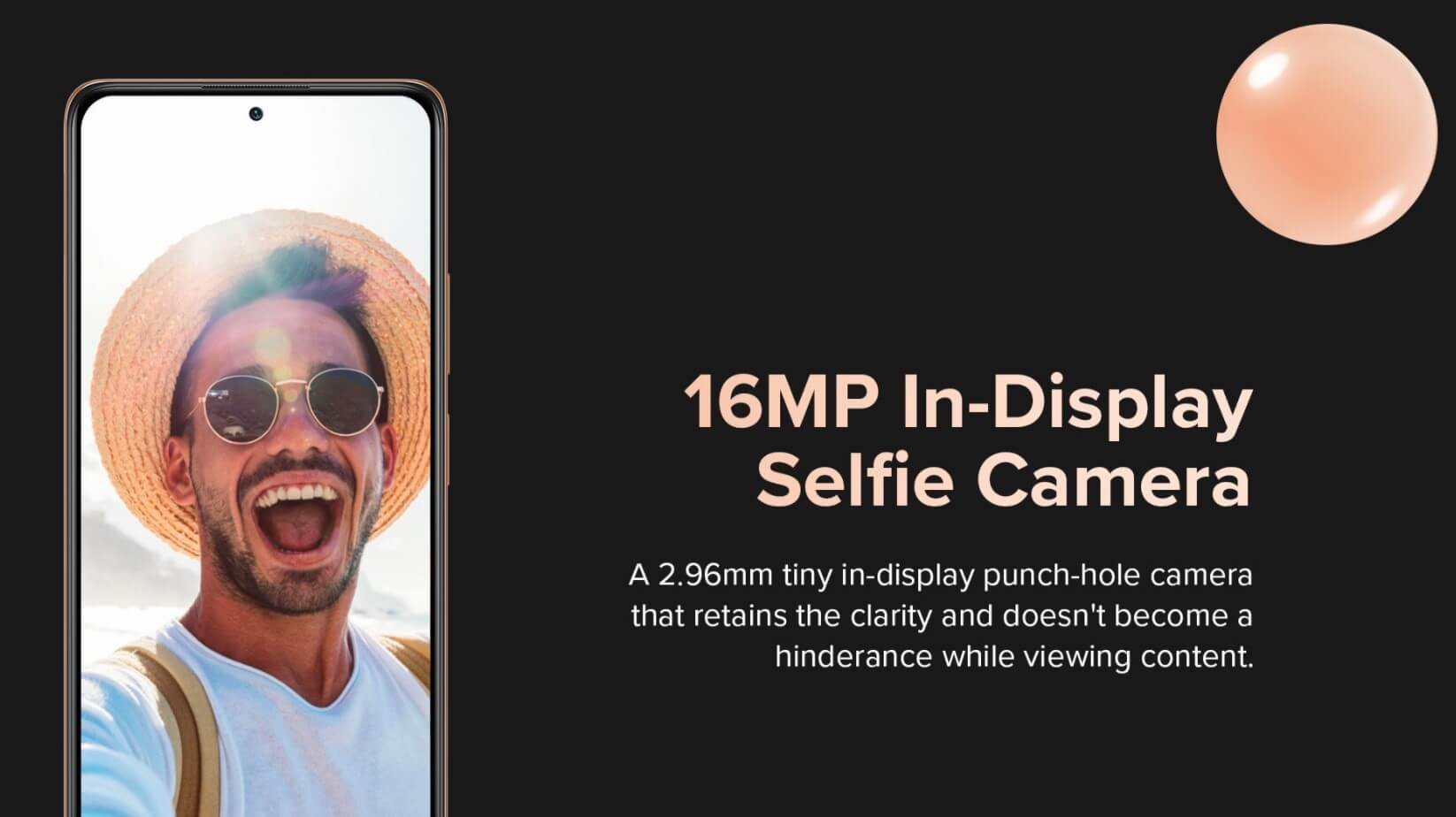 Redmi Note 10 Pro Maxのフロントカメラは1600万画素