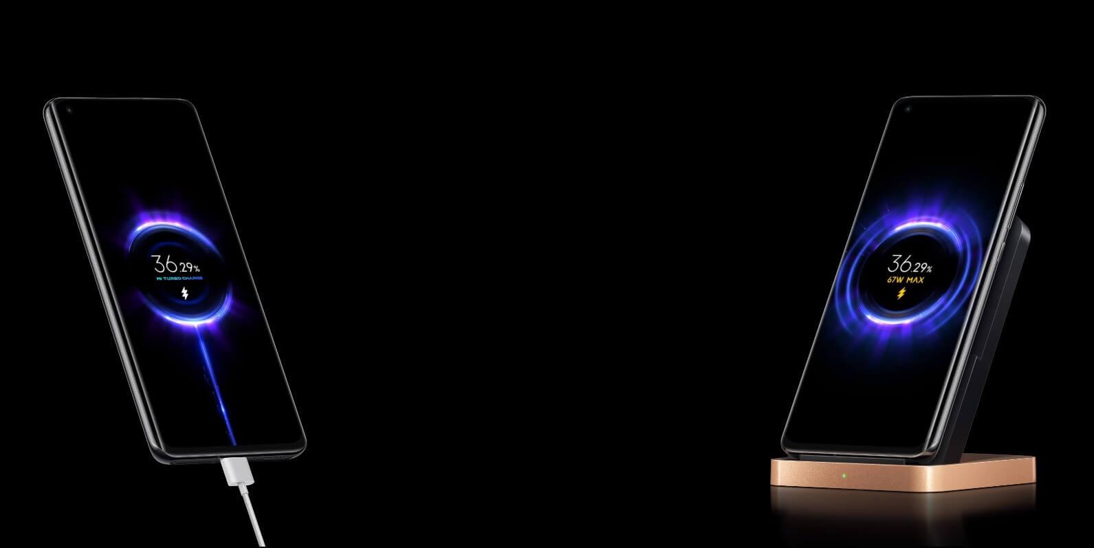 Xiaomi Mi 11 Proは有線67W、無線67Wと同じ速度で充電出来る