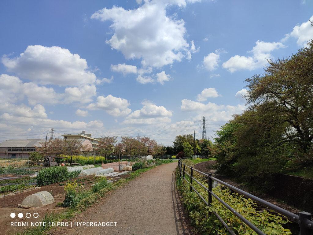 Redmi Note 10 Proのメインカメラで撮影した田舎の風景