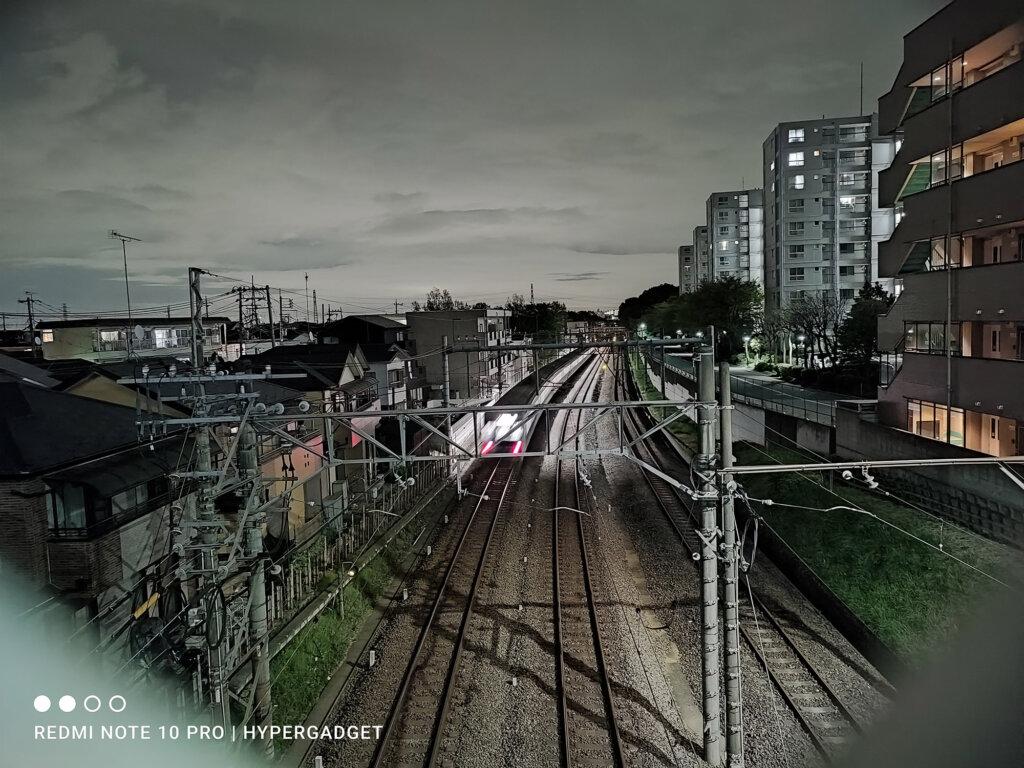 Redmi Note 10 Proのデフォルトカメラアプリは夜景も最高画質