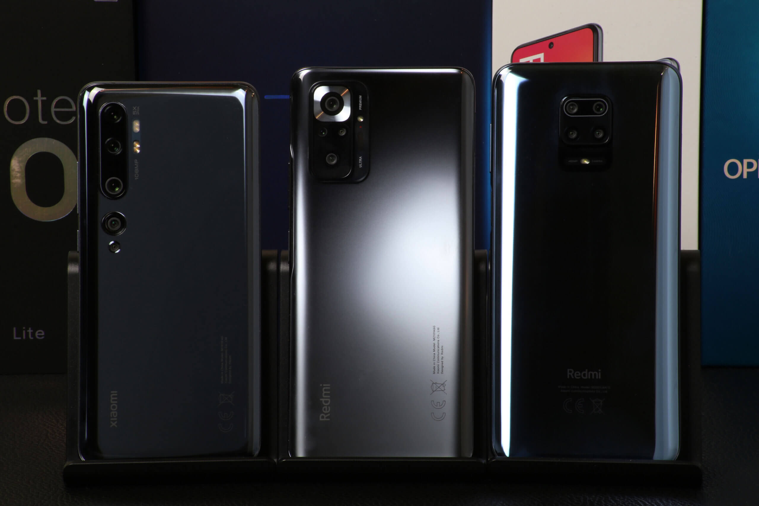 Redmi Note 10 Pro、Redmi Note 9S、Mi Note 10のベンチマークを実測