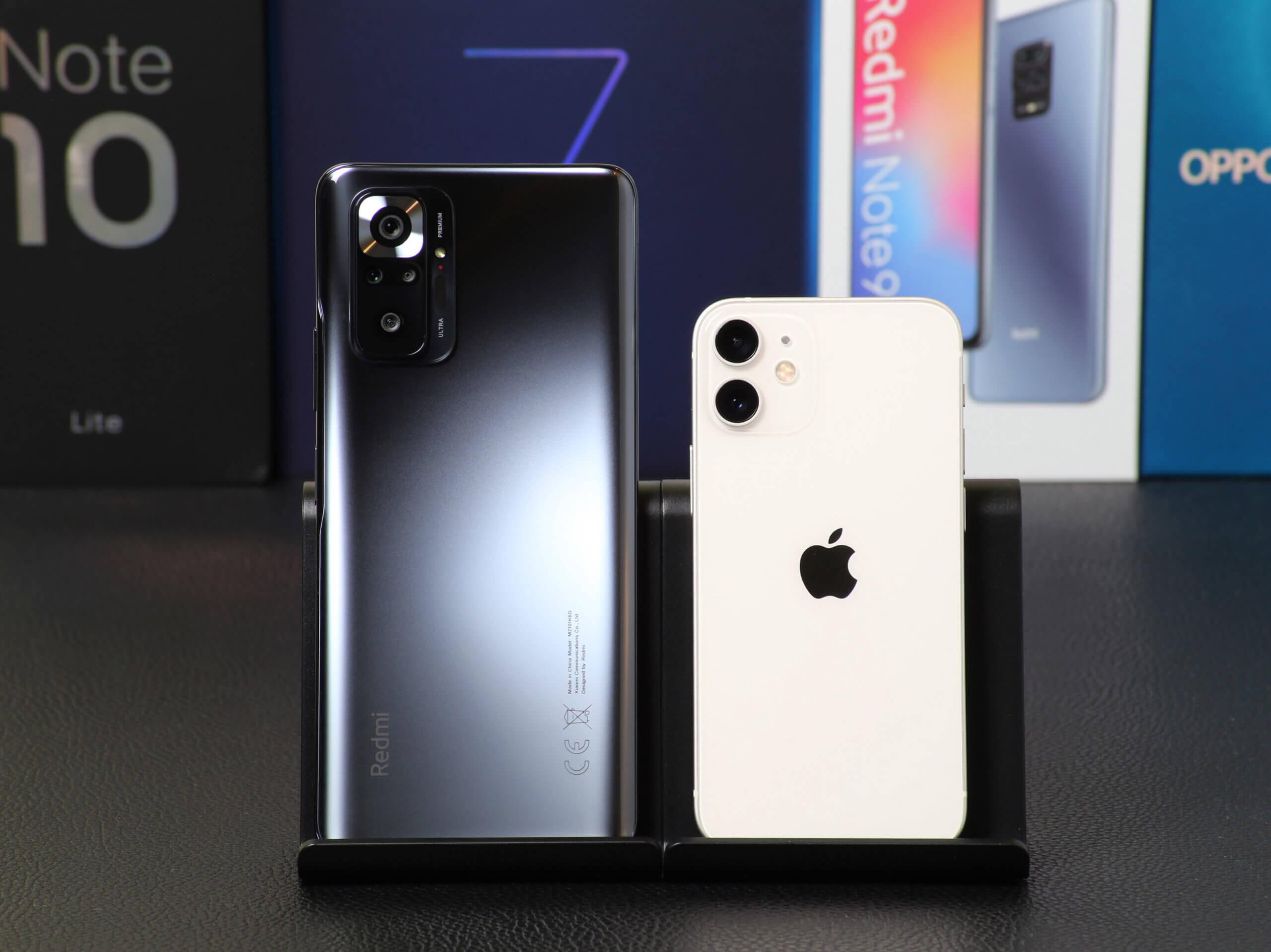 Xiaomi Redmi Note 10 ProとApple iPhone 12 miniのカメラ画質を実写比較