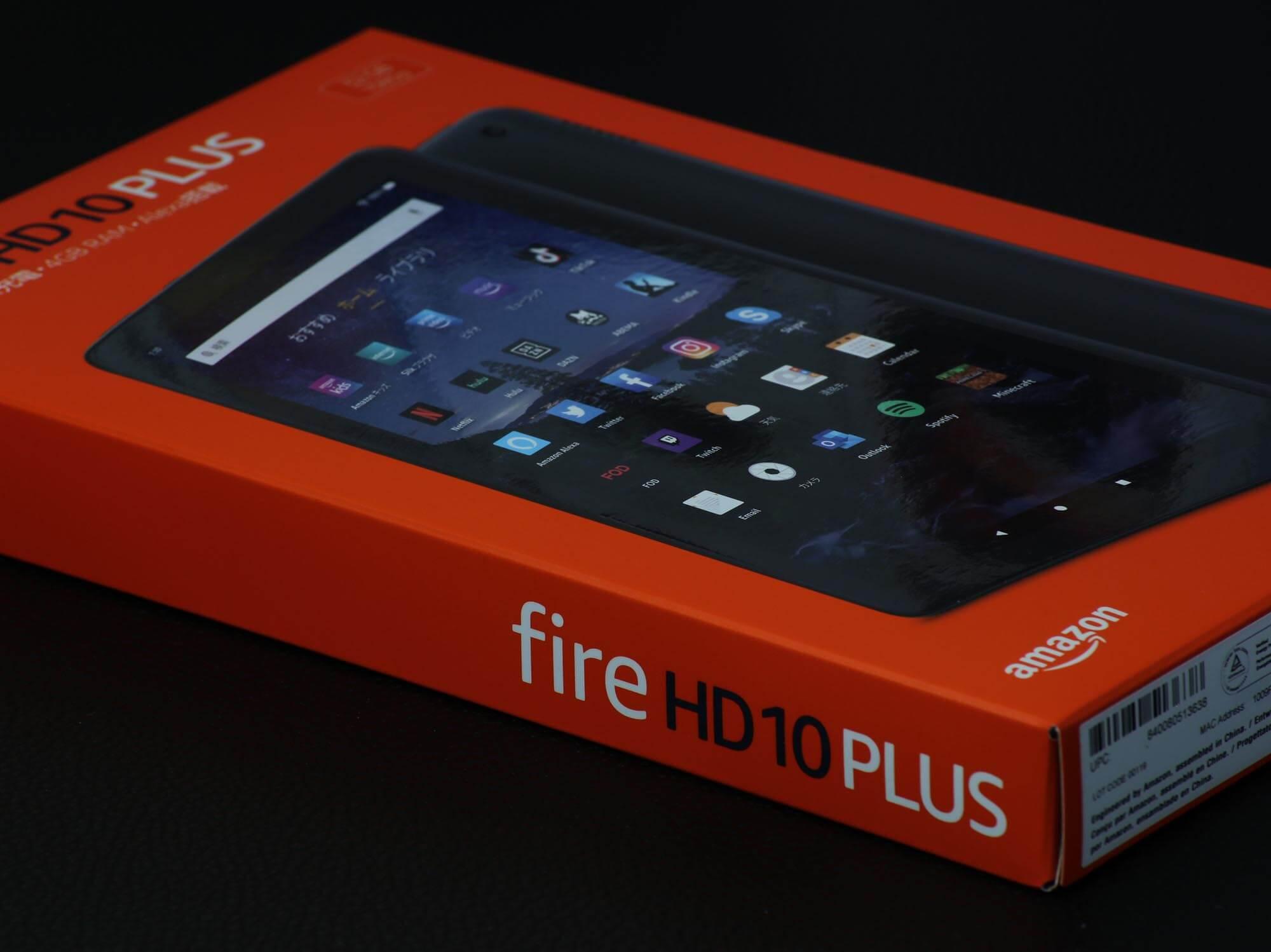 Fire HD 10 Plusのパッケージ