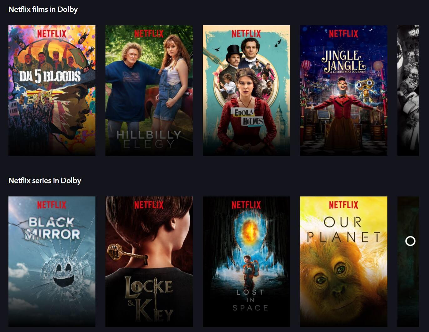 Dolbyコンテンツ